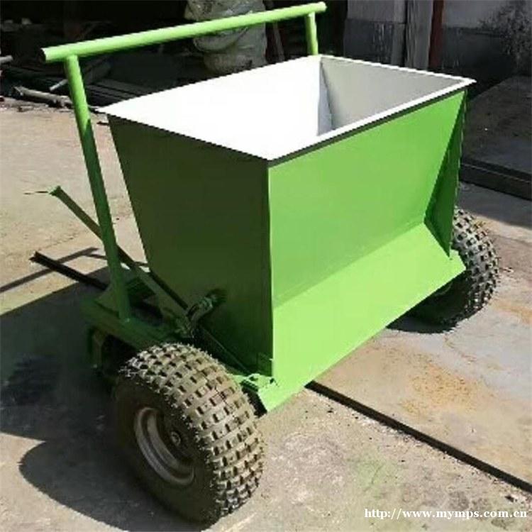 手持式填砂机 小型草坪充砂机 四轮草坪填砂机